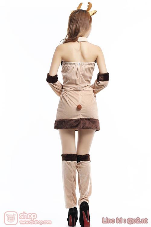 ชุดกวางเรนเดียร์ผู้หญิงแฟนซีคอสเพลย์แอบเซ็กซี่เล็กๆ