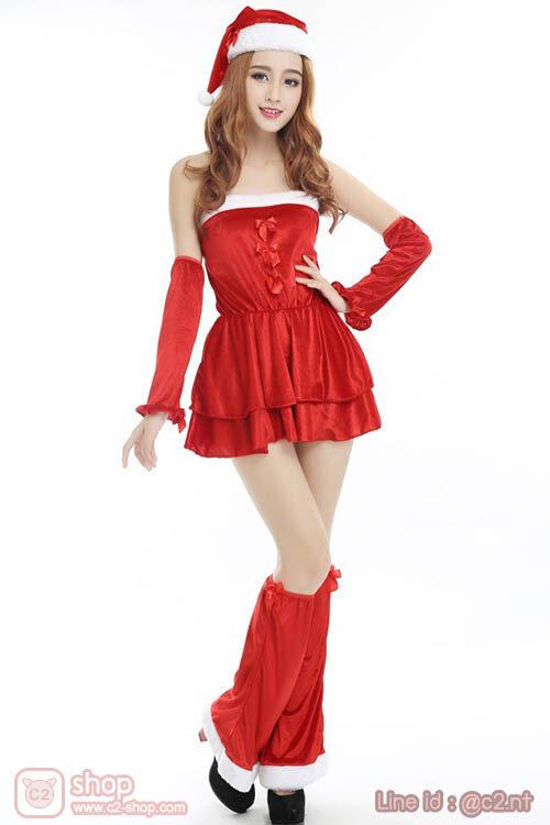 ชุด Santy สีแดงสุดน่ารัก มาพร้อมพร็อบแบบจัดเต็ม